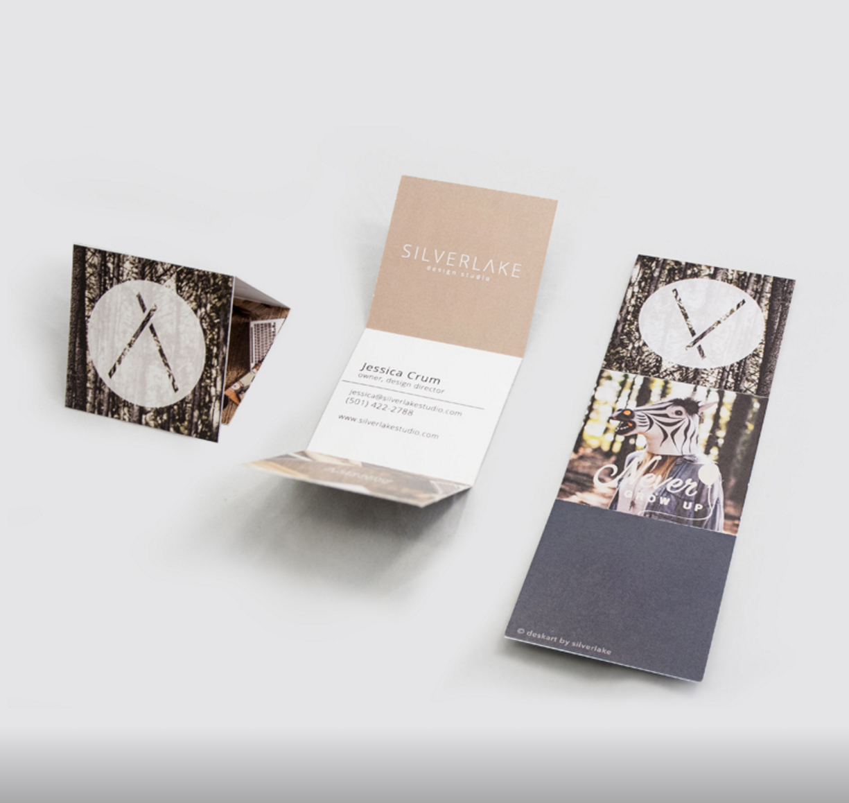They designed these awesome business cards featuring the images from our shoot!