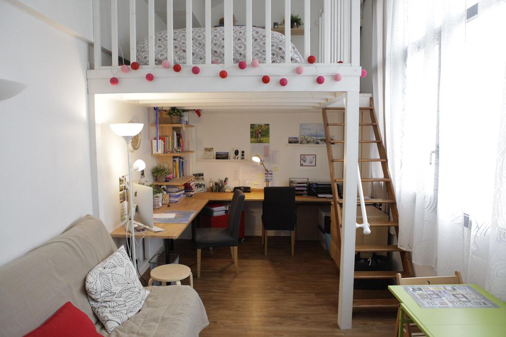Grand studio avec mezzanine 37m2 - 1er étage