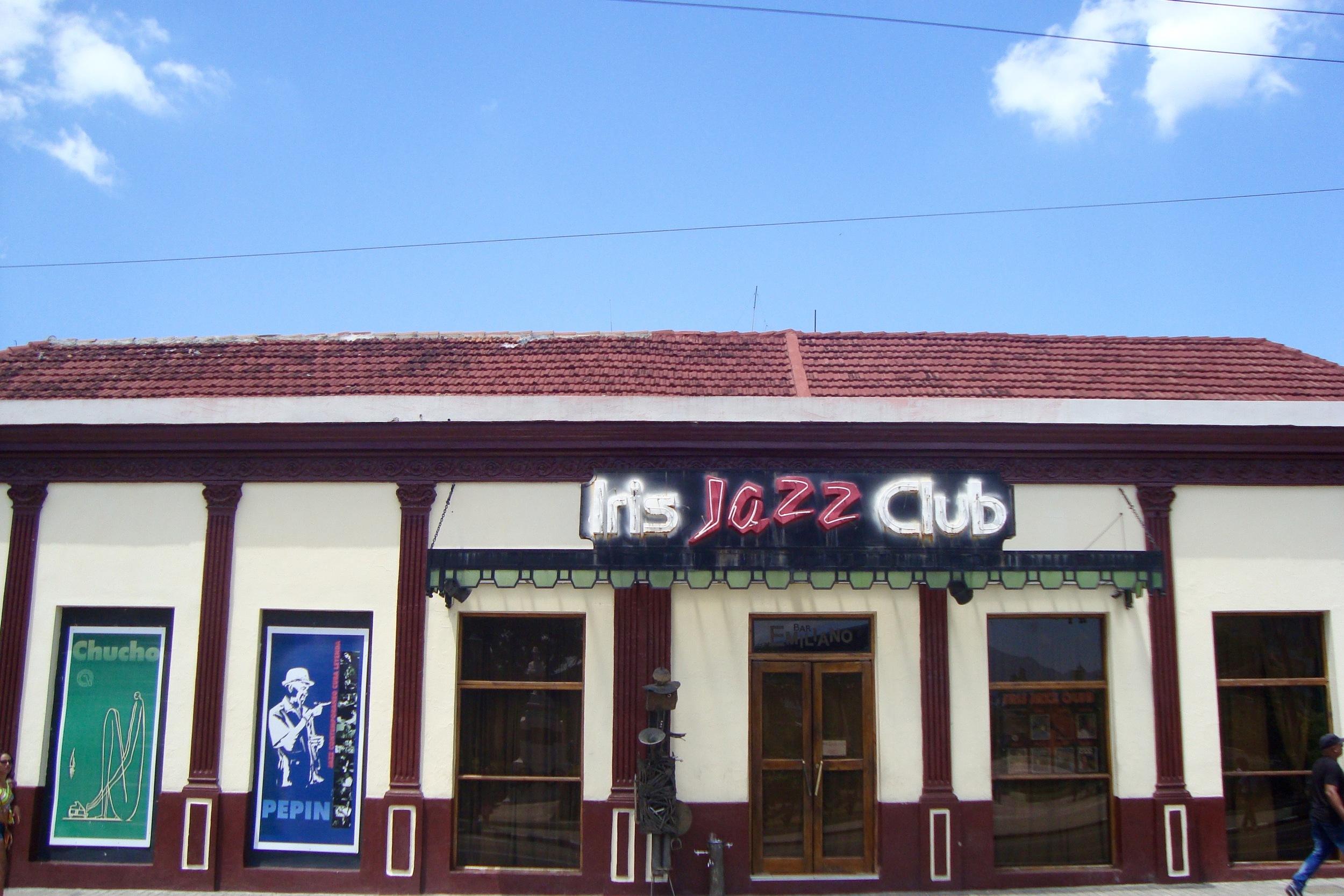 The famous Iris Jazz Club, Santiago