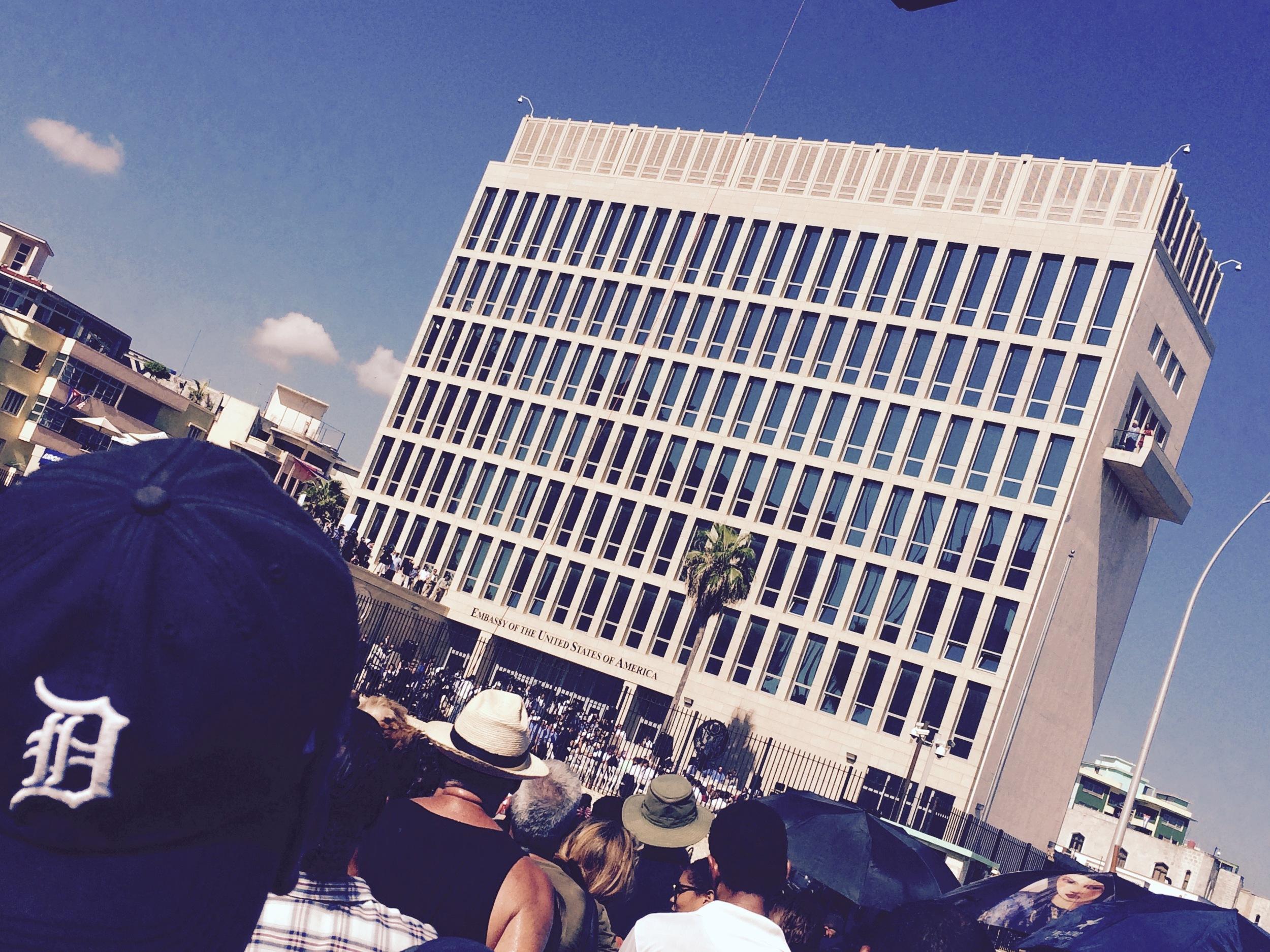 The opening of the U.S embassy, Havana