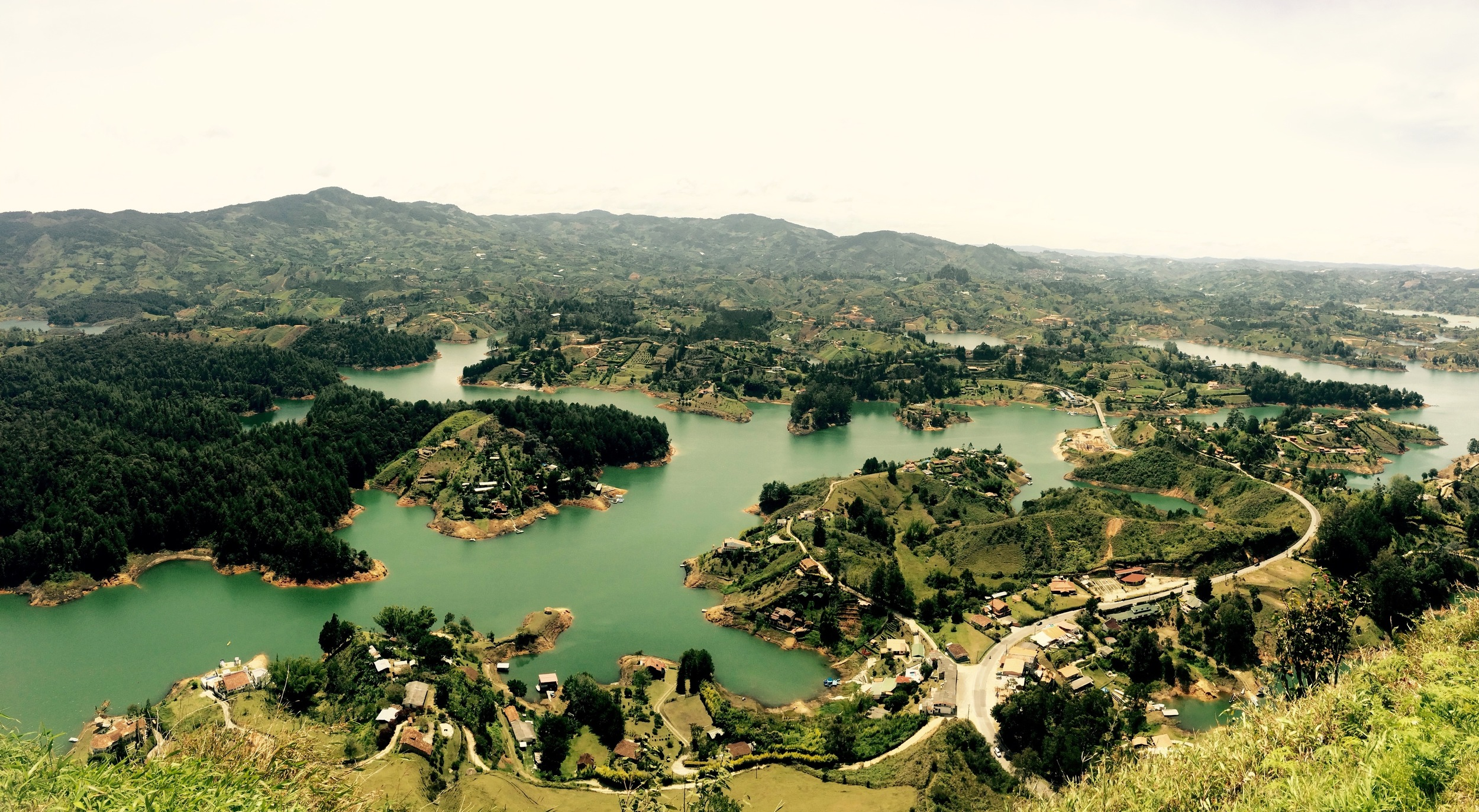 The view from the second tallest rock in the world, which can be found three hours from Medellín in the small town of Guatapé.