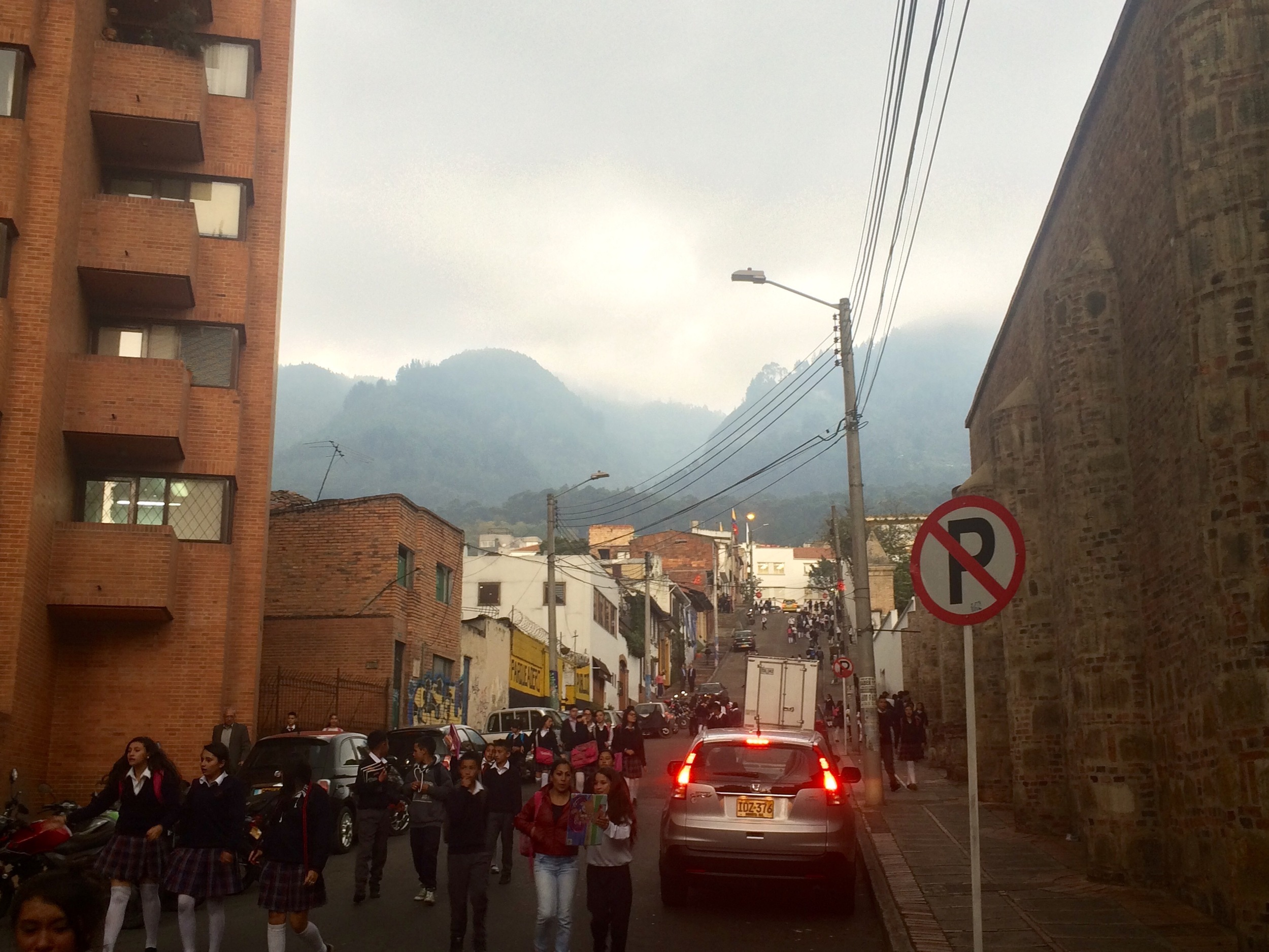 After class in Bogotá.