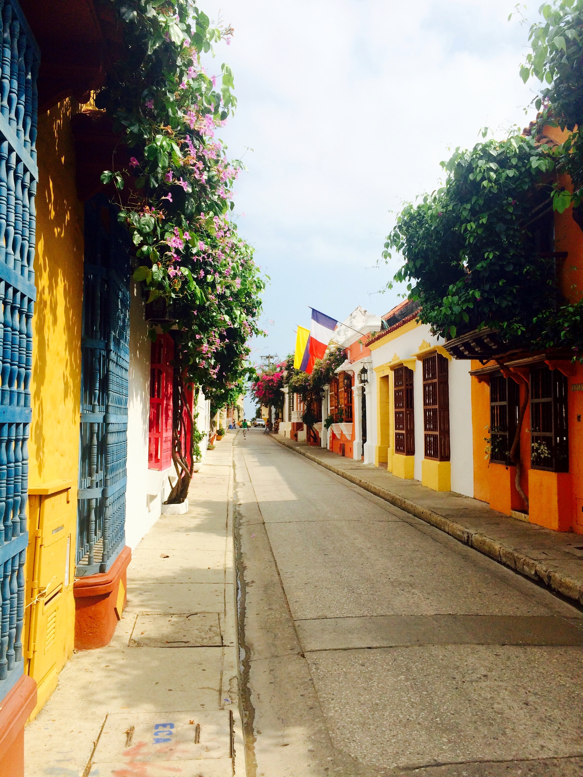 A typical street in Cartagena