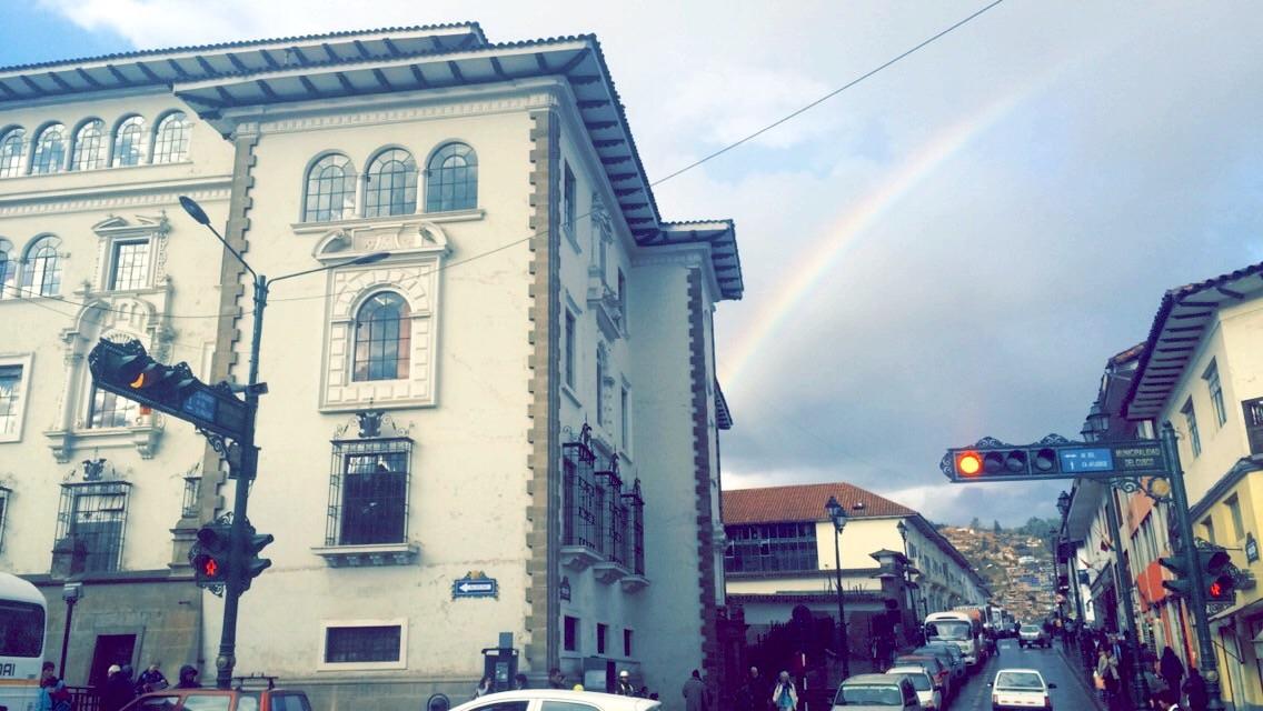 Rainbow over Cuzco