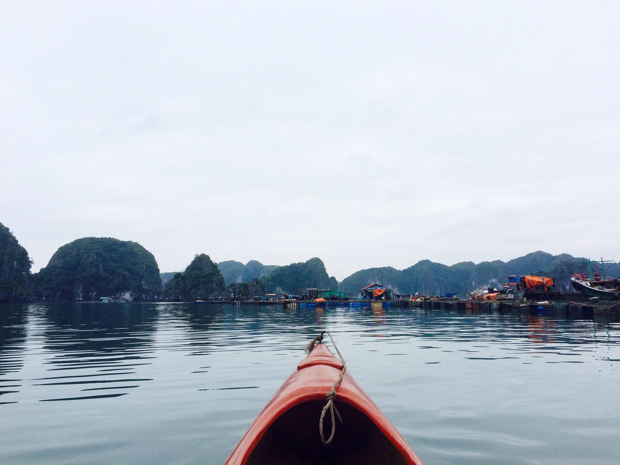 The floating fishing villages of Bai Tu Long Bay