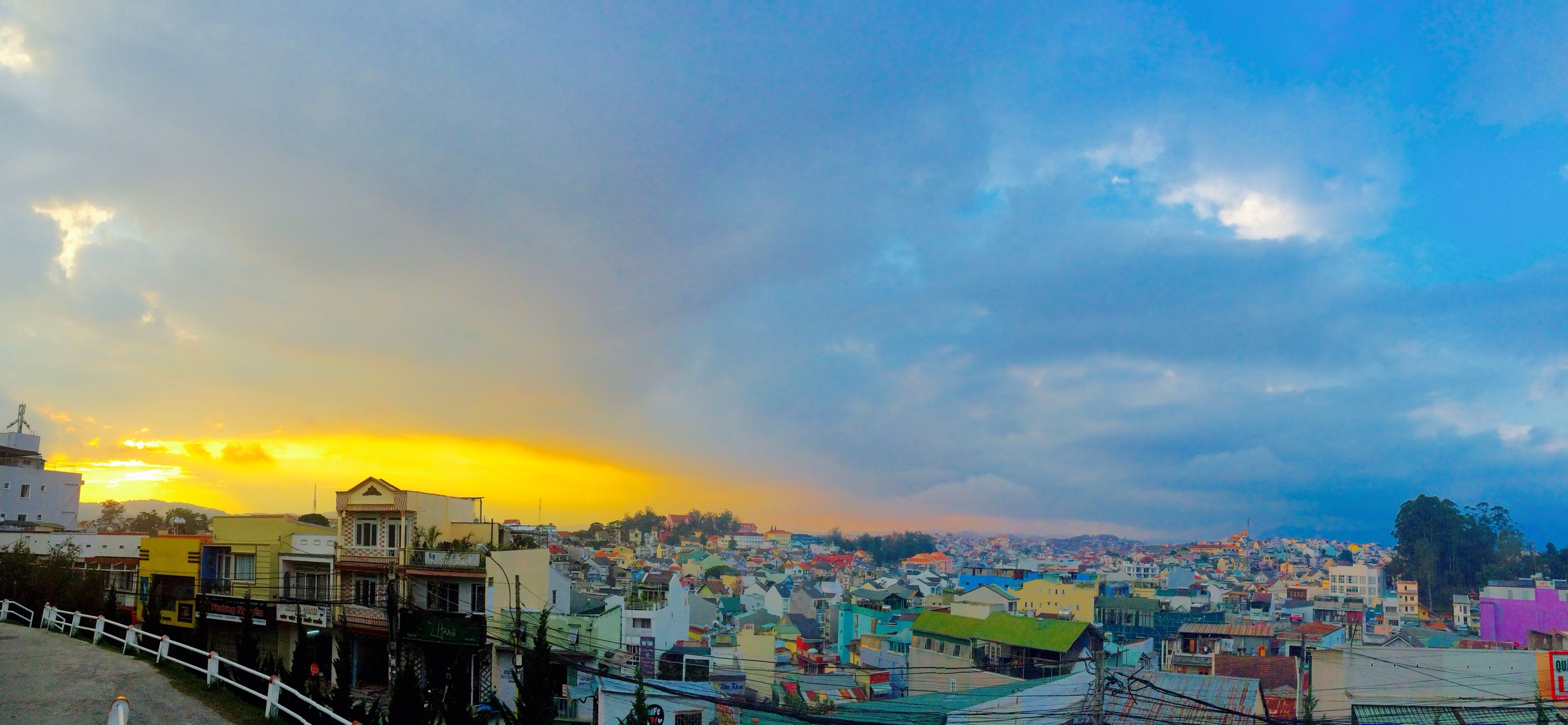 Sunset over the former French playground of Da Lat.
