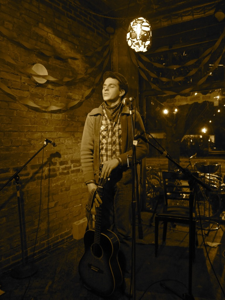 George at Radio Bean, Burlington VT. Photo courtesy of Eric George.