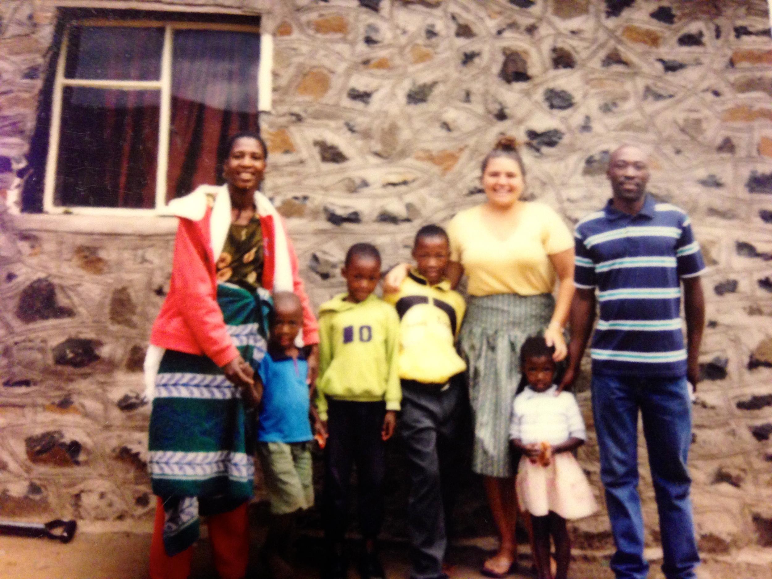 The Ramone family. Left to right: Mme Ma Karabelo; Rorisang; Moeko; Karabelo; Relebohile (Kara); Refuea; Ntate Lerato.