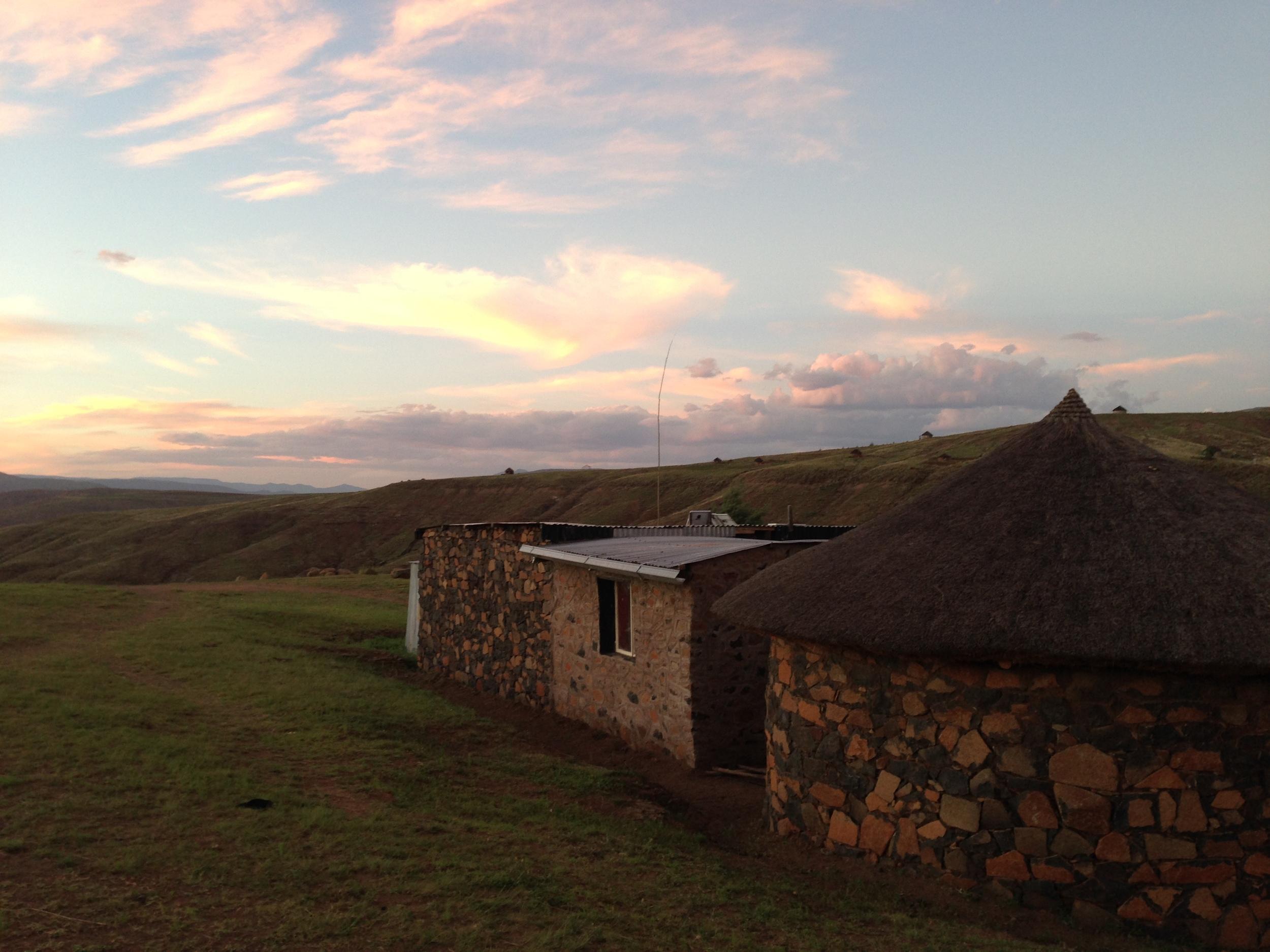 Sunset in Makhotso.