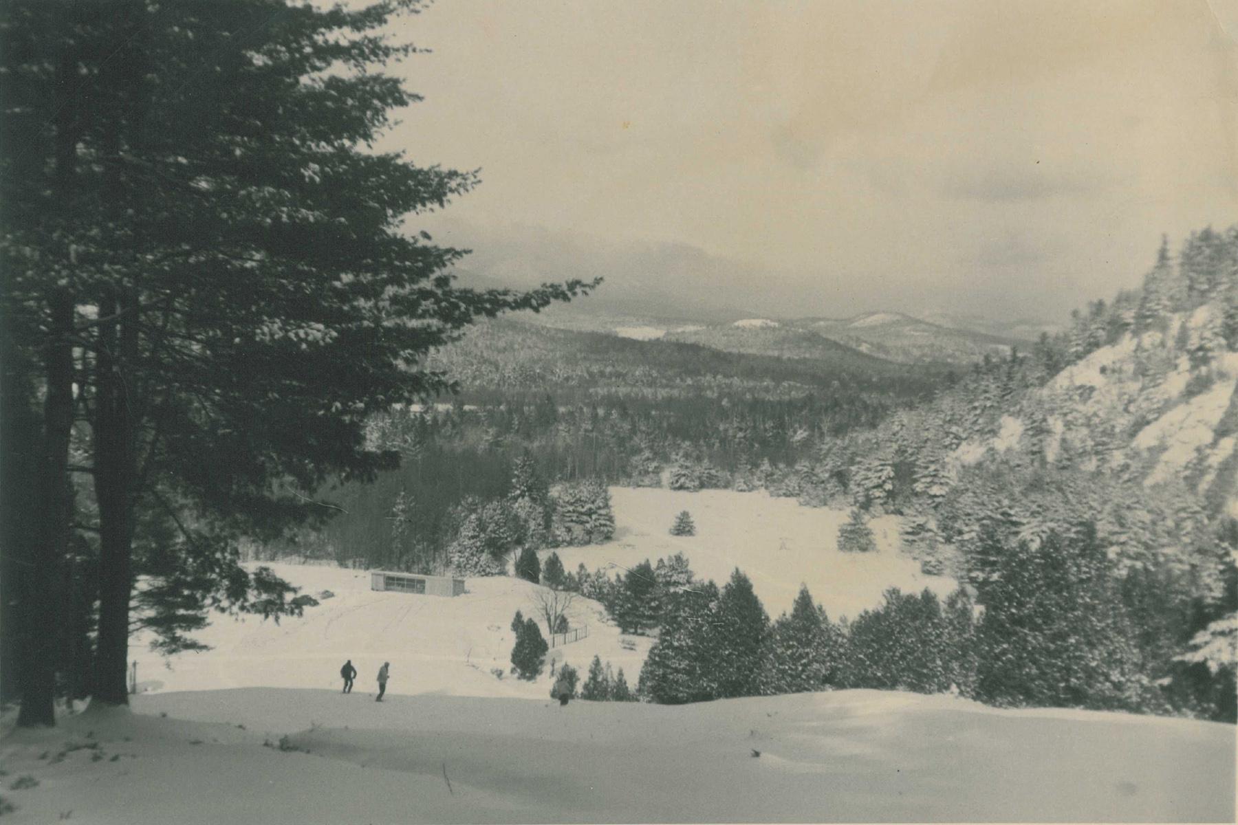 View from the top of Otis Mountain ski hill. Courtesy Jeff Allott.