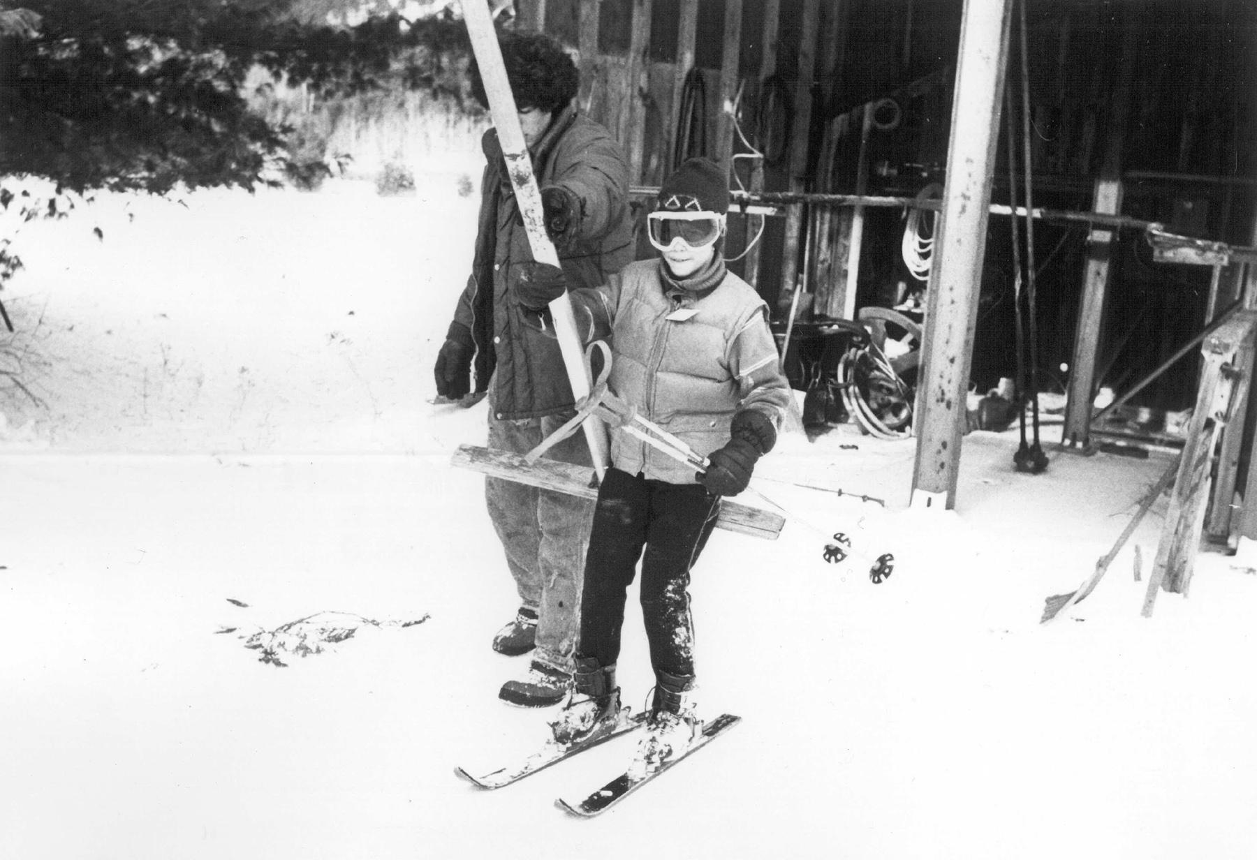 Young skier at Otis Mountain. Courtesy of Jeff Allott.