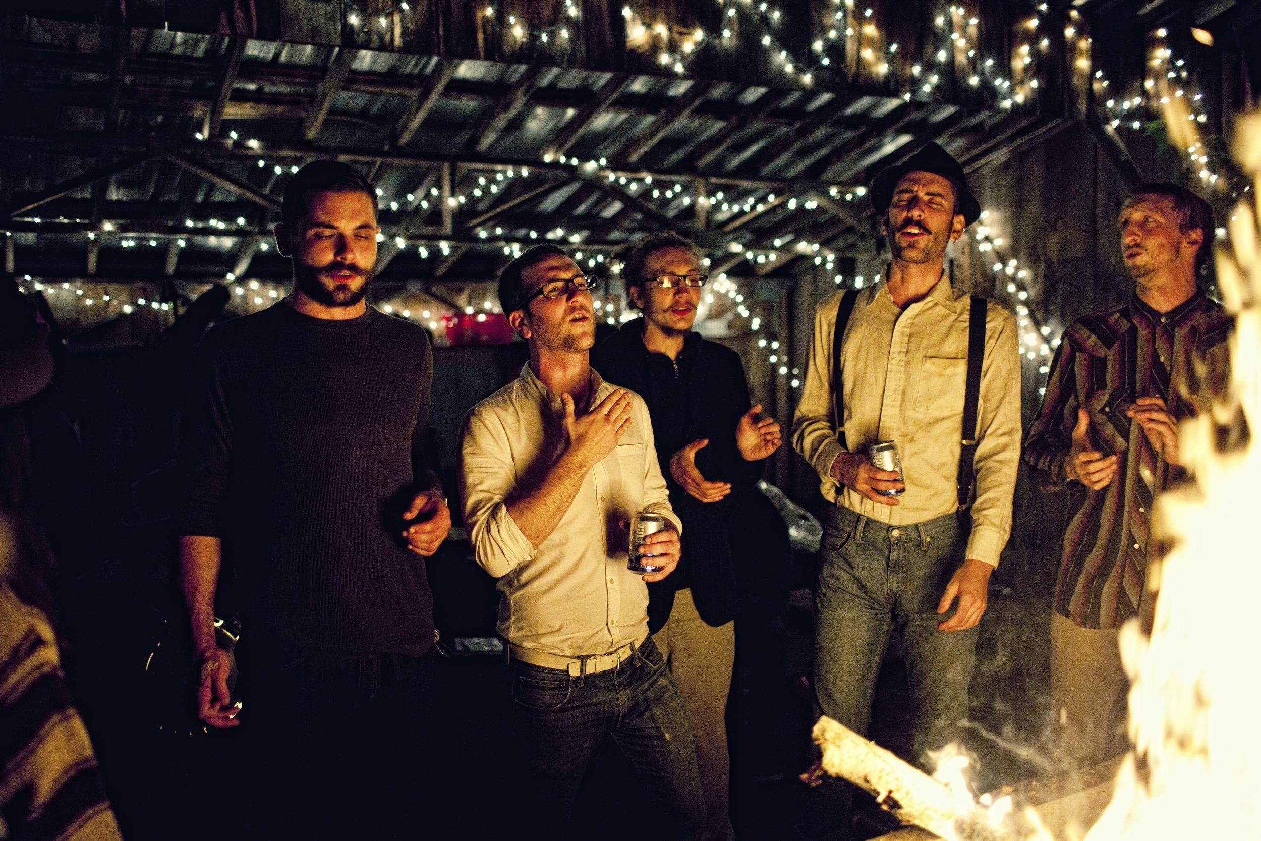 Fun around the fire at Otis Mountain Get Down. Courtesy photo.