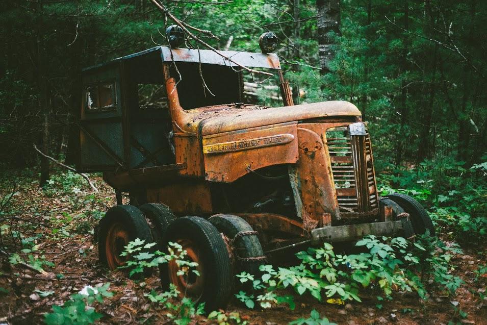 Rusting equipment. Photo by Malcom Watts.