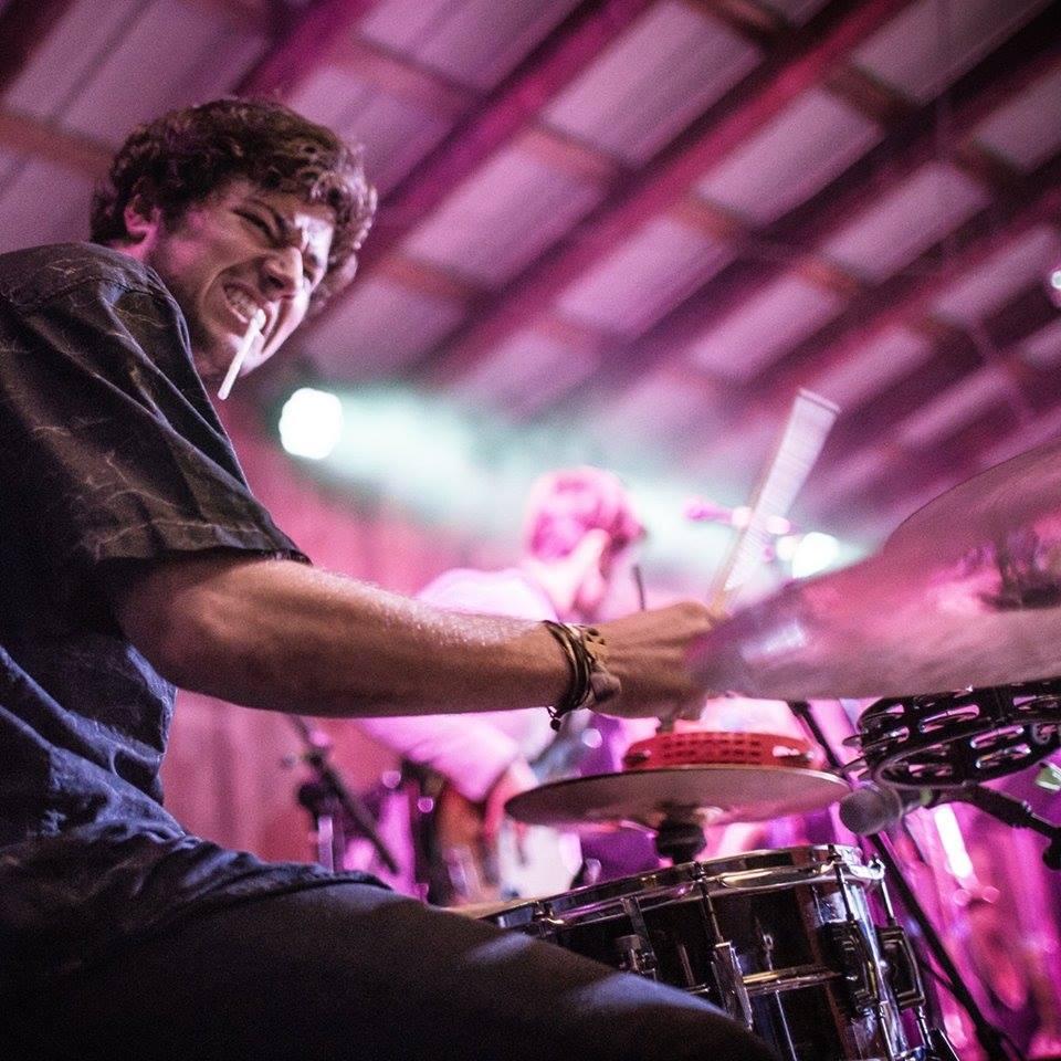 Smooth Antics drummer Jake Mayers at Otis 2014.