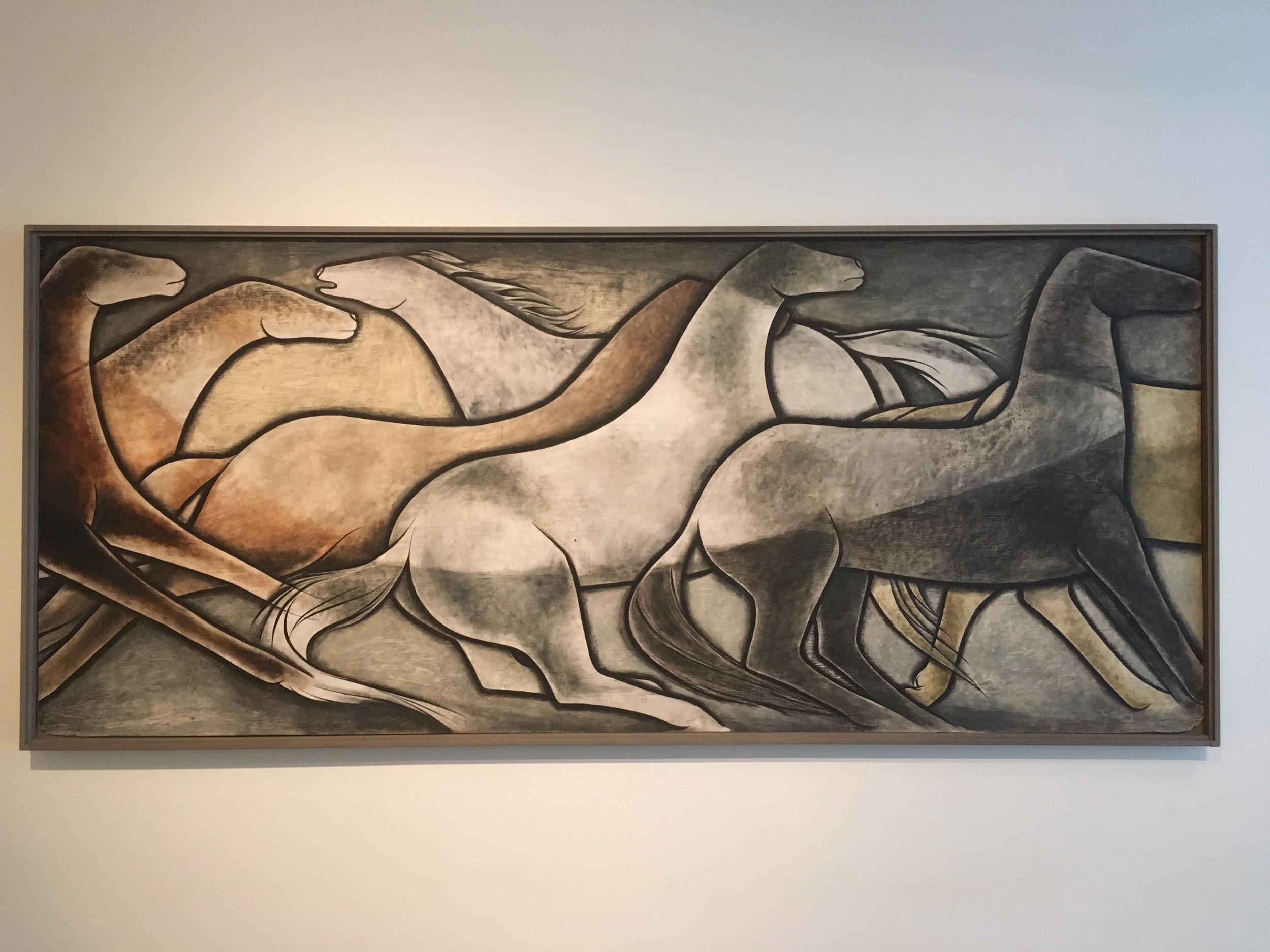 Wild Horses (one panel of six), Frank Mechau, 1936