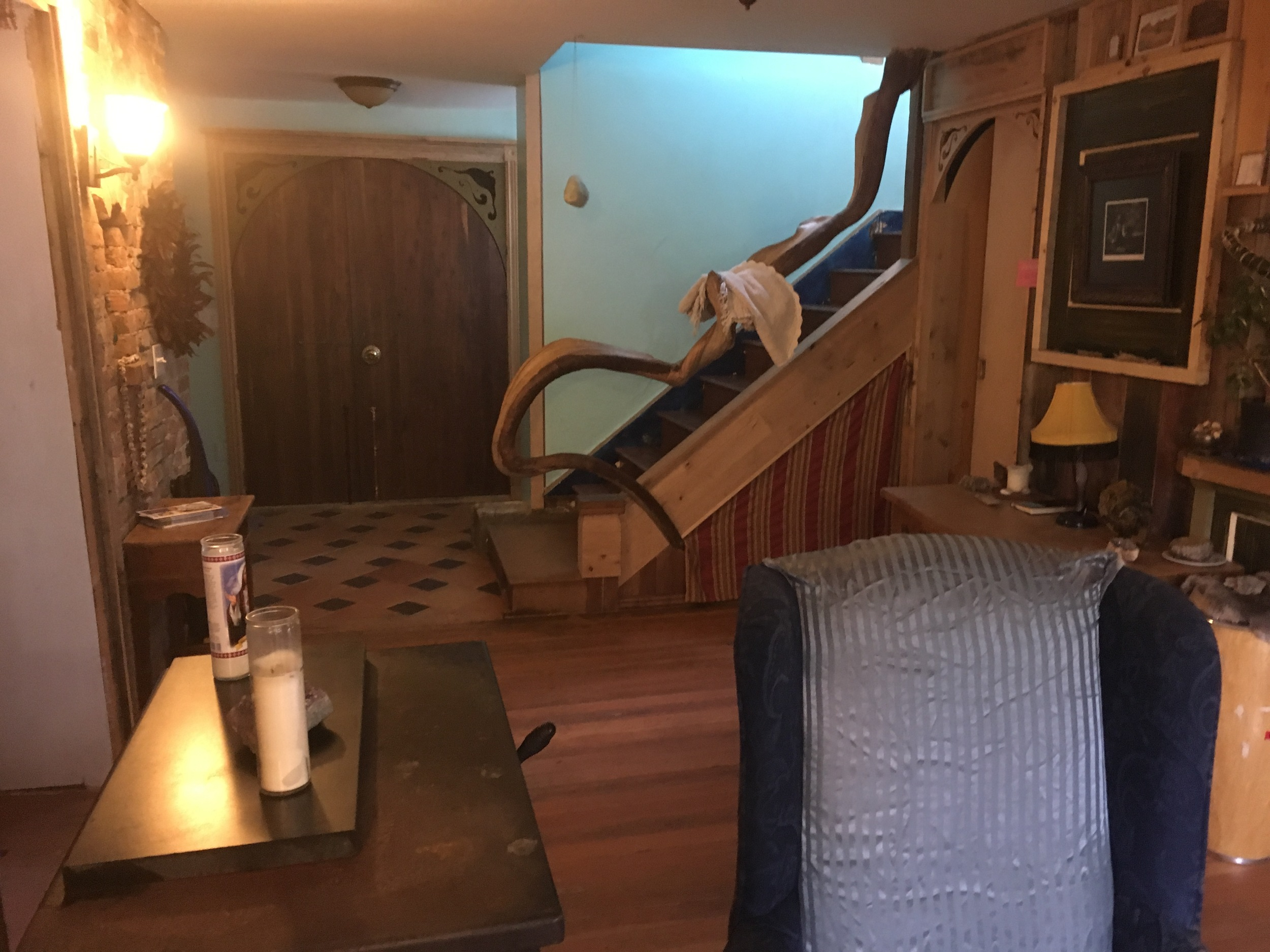 Stairs leading to upstairs suite