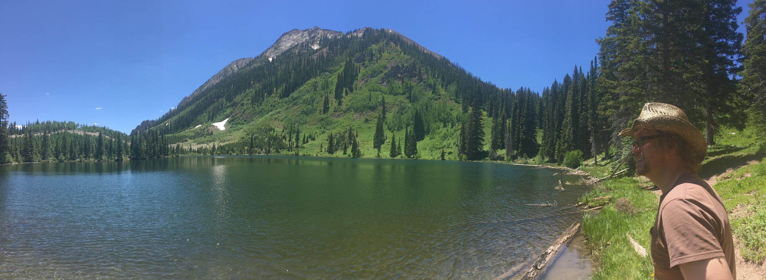 Panorama of Dollar Lake.