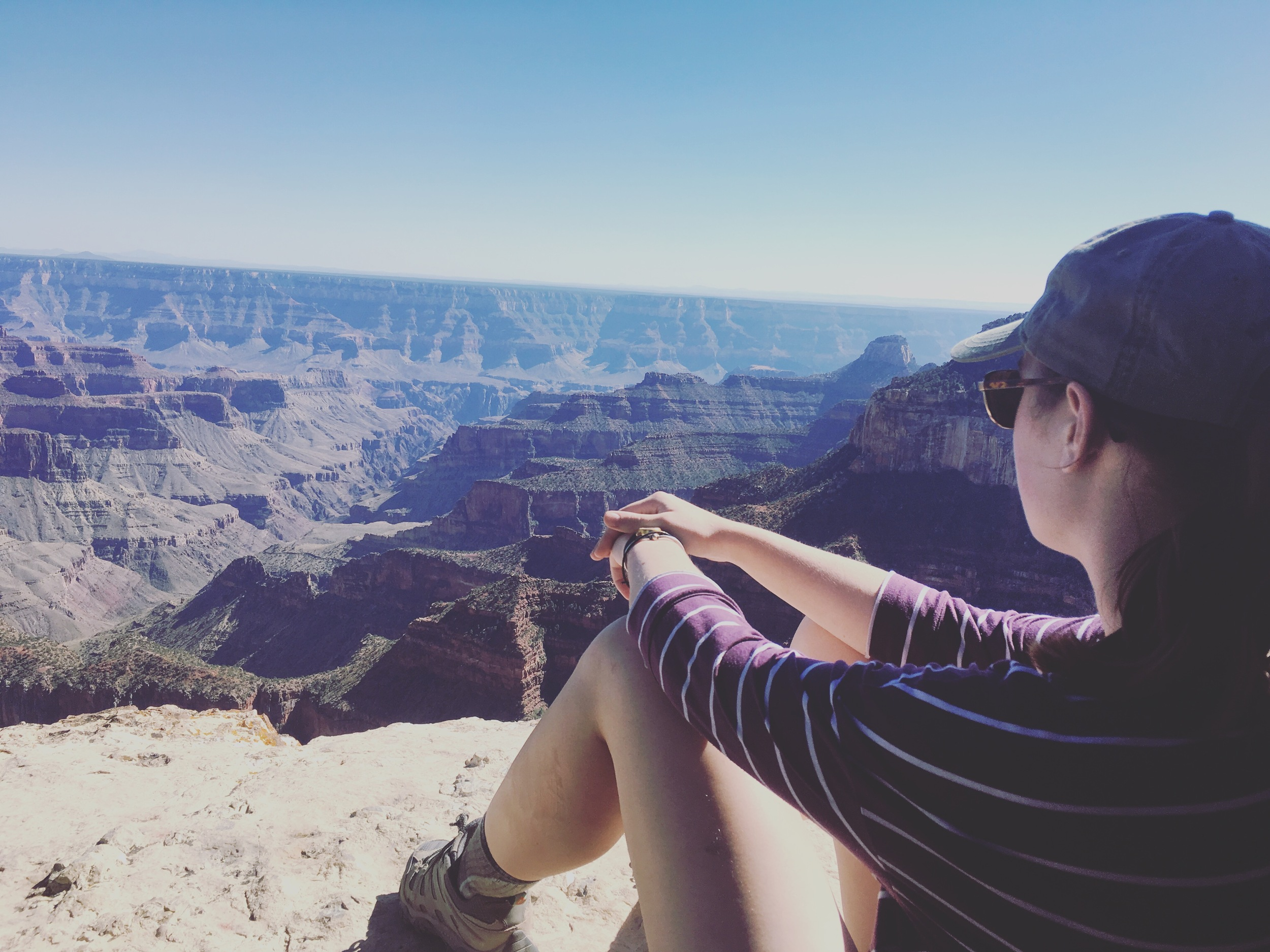 Gazing into the canyon.