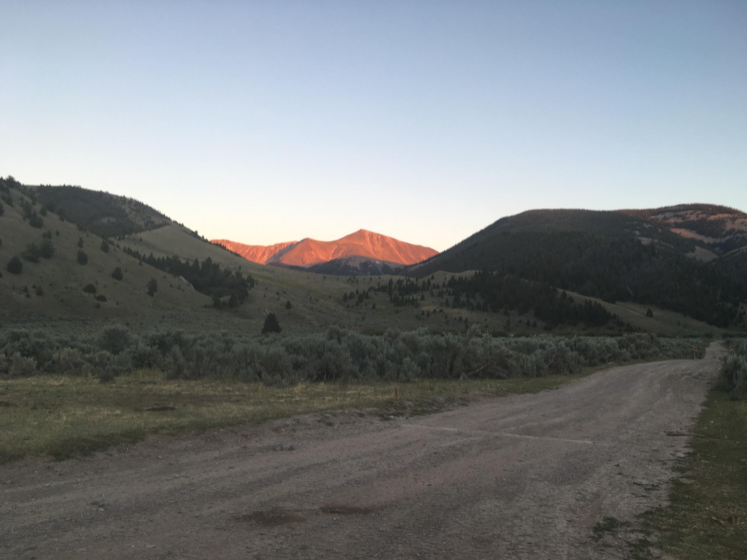 Sunset in Lima, Montana,Beaverhead-Deerlodge National Forest