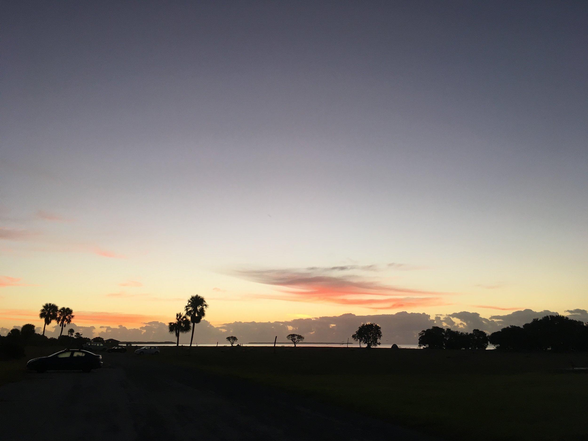 Daybreak at Flamingo, Everglades National Park.