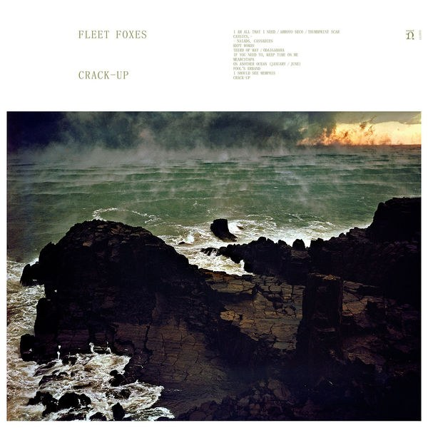 """FLEET FOXES:CRACK-UP - On their third studio album,Crack-Up,Seattle folk-rock favorites Fleet Foxeshave wandered far from the woodland sounds of their eponymous 2008 breakthrough. Drawing thematic inspiration from F. Scott Fitzgerald's similarly named essay—a 1936piece in which frontman Robin Pecknold found solace during his band's six-year hiatus—Crack-Upechoes Fitzgerald's notions of existential rupture and duality through polyrhythmic compositions and disjointed arrangements. From its dirge-like first notes to its startling, striding guitar to the gratifying entrance of Pecknold's familiar, ascendant cry, you can hear the tectonic shifts in asymmetrical opener """"I Am All That I Need / Arroyo Seco/ Thumbprint Scar."""" Pecknold's lyrics have become increasingly esoteric, with references to the ancient worlds of Egypt and Rome, paintings by Goya, Muhammad Ali, and the French sailor Bernard Moitessier. But no matter:The harmonic textures carry the listener through.Sweeping and turbulent,Crack-Upsometimes bends toward the grandiose, but its simultaneous embrace of cynicism and celebration, hope and hopelessness, fissure and healing, is a welcome attempt to reconcile the irreconcilable.Published in SPIN's Top 50 Albums of 2017 (#46)"""
