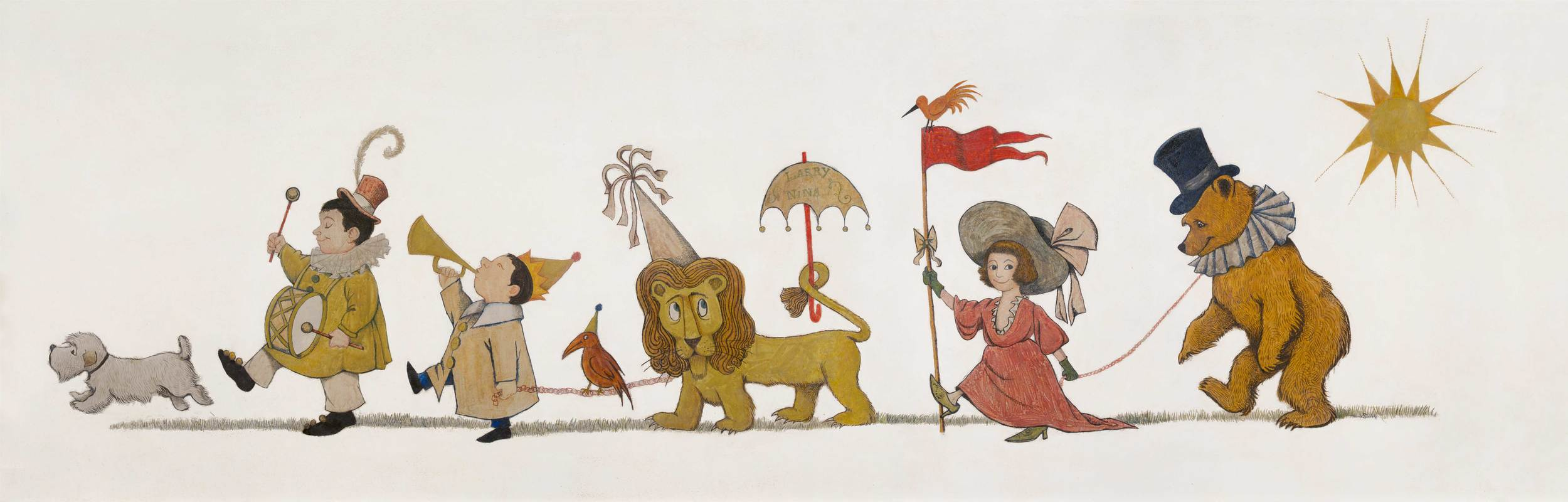 Courtesy of The Rosenbach of the Free Library of Philadelphia, 2008.0005 Given by Larry and Nina Chertoff in loving memory of Roslyn and Lionel Chertoff and Eugene Glynn. The Chertoff Mural, © 1961 by Maurice Sendak, all rights reserved.