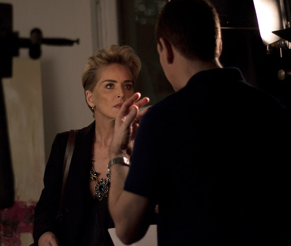 Nigel directing Sharon Stone in Mothers and Daughters