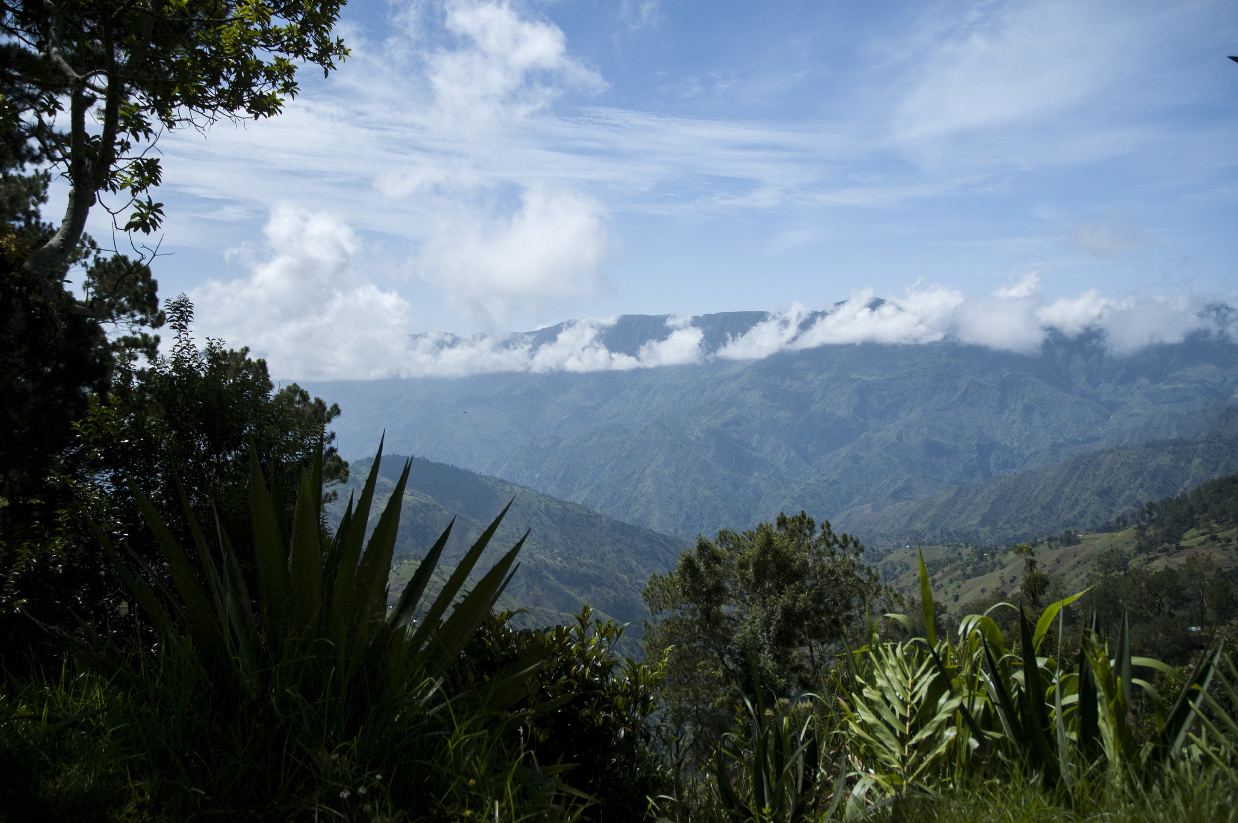 View of mountains from The Lodge, Furcy
