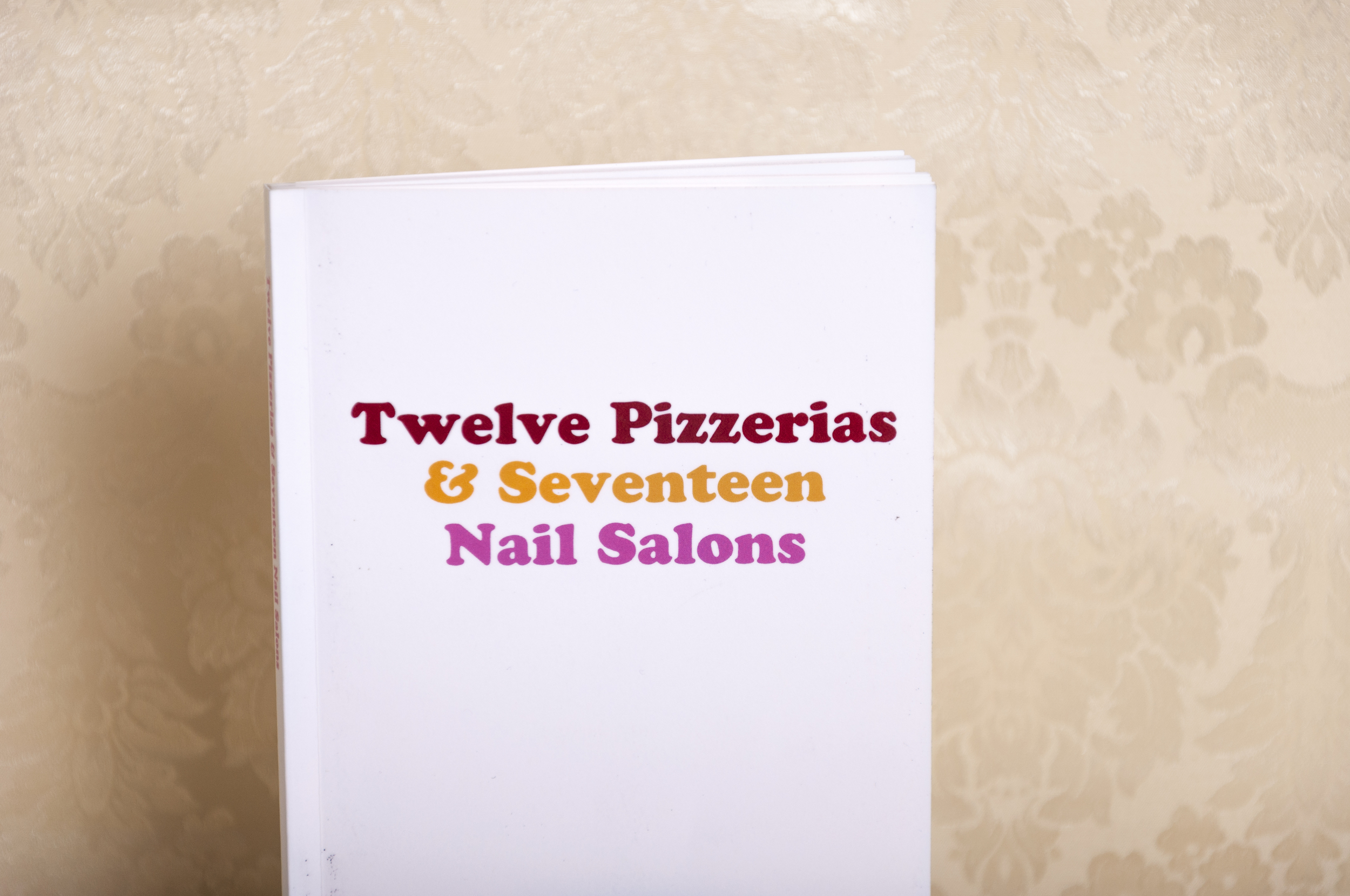 An Ed Ruscha inspired print-on-demand publication consisting of all of the Pizzerias and Nail Salons in my hometown. 2014.  First Editions: Sold Out  Stay tuned for a Second Edition