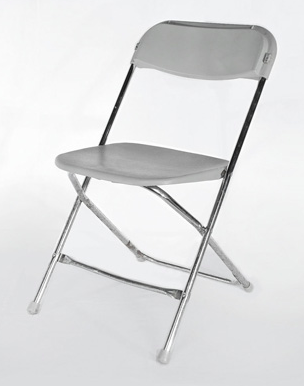 Silver Plastic Folding Chair