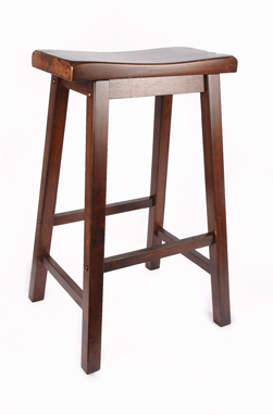 Walnut Saddle Barstool