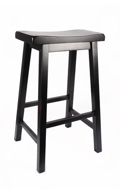 Black Saddle Barstool