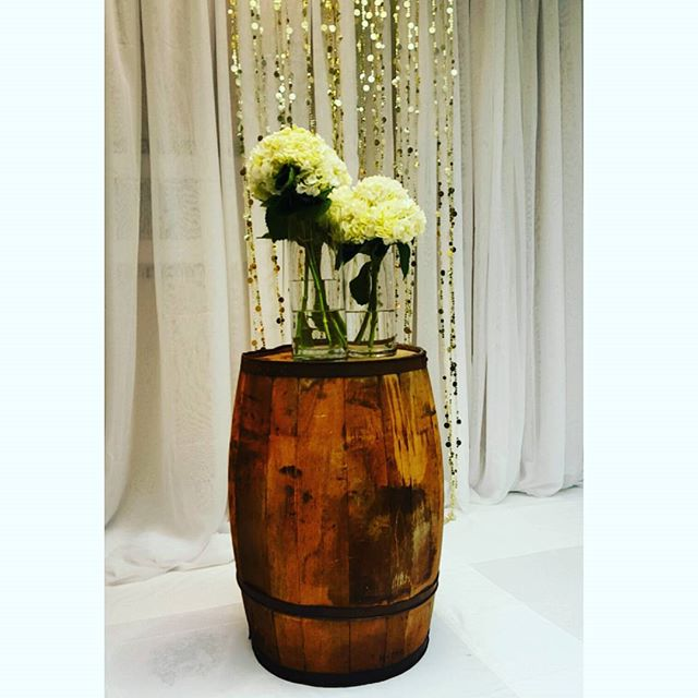 #ceremony #decor #barrels #wedding #eventplanner #flower #decor #arrangements #nye #cateringmadesimple #icaterevents #icatermenu