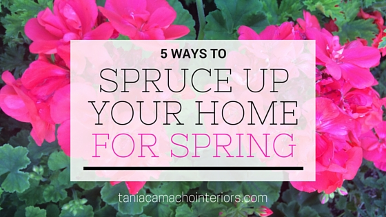 5 ways to spruce you your home for spring