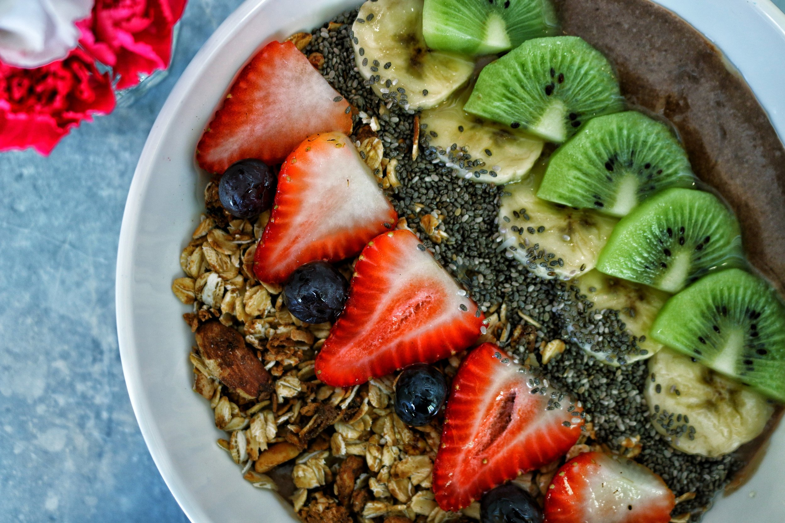 Acai Bowl  Fresh fruits, granola, chia seeds