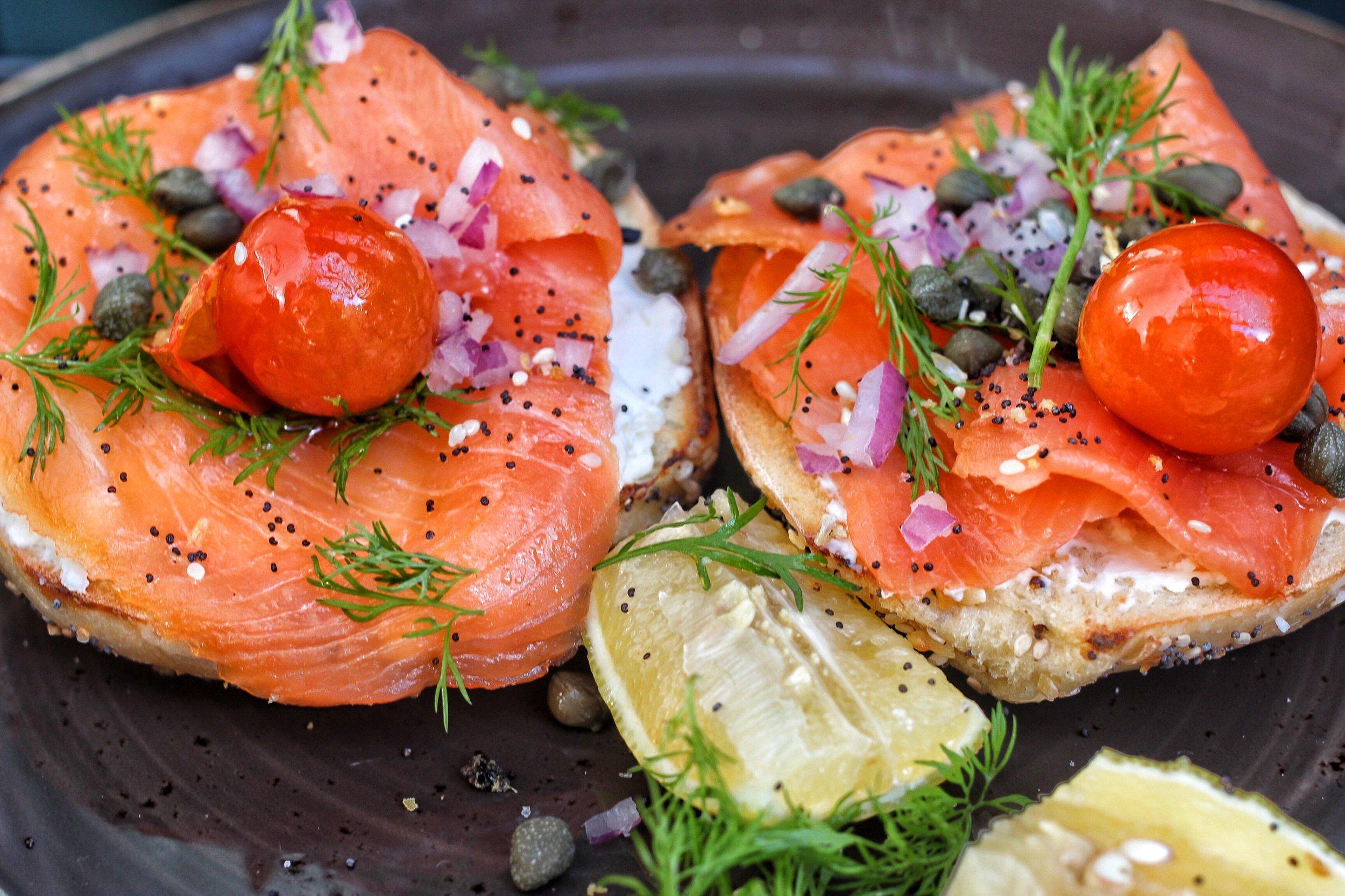 Smoked Salmon / dill mascarpone, pickled shallots