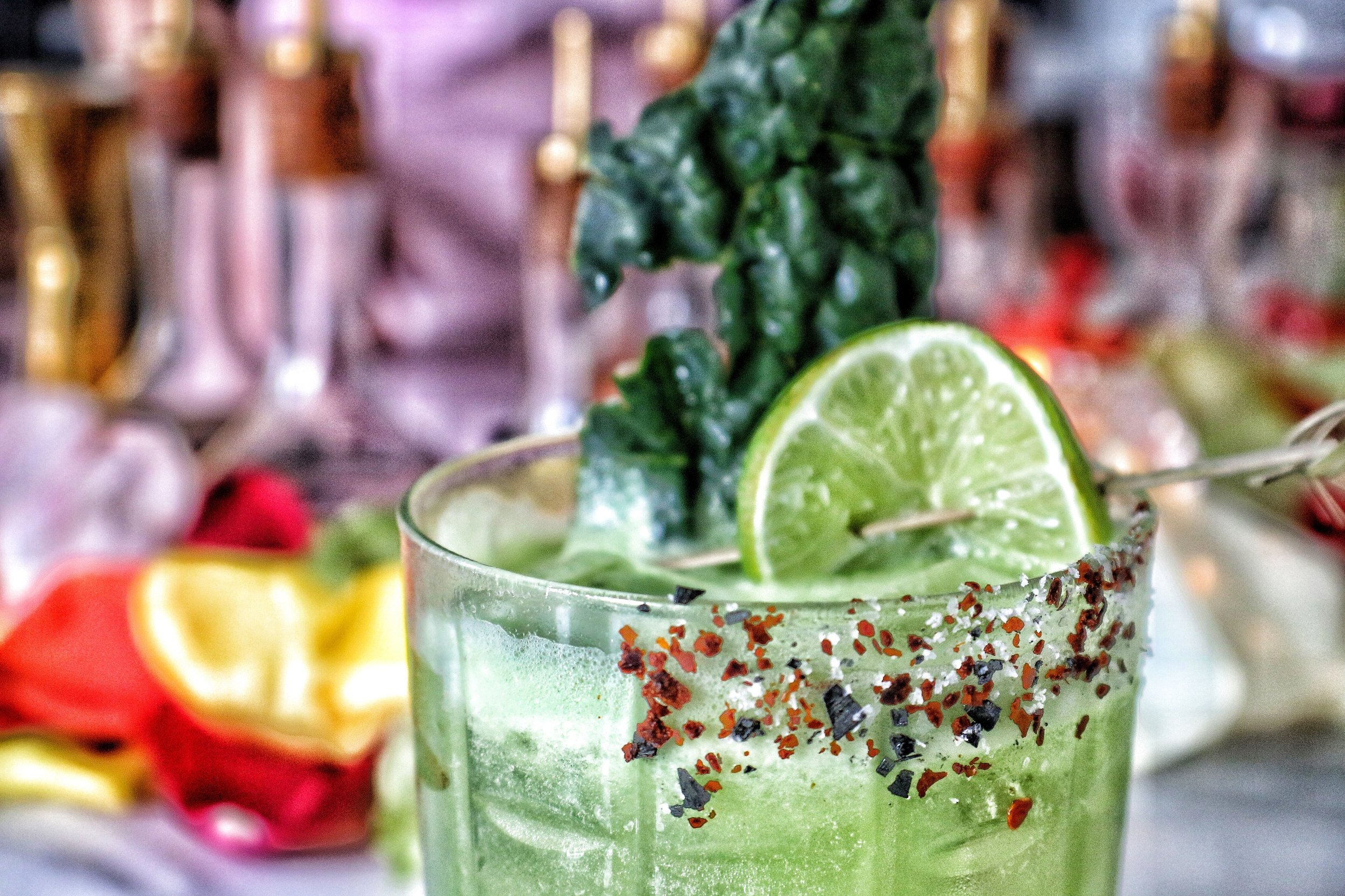 Too Good For You  Tequila / Kale / Lime / Agave / Cucumber