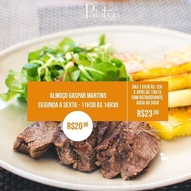 Almoce no Palatu's da Gaspar Martins, oferecemos um variado buffet de pratos quentes entre massas, carnes e comida caseira, com grelhados e churrasco feito na hora. Além de uma mesa de doces deliciosa, que já é conhecida por todos os nossos clientes. Rua Gaspar Martins, 510. De segunda à sexta, das 11h30 às 14h30. www.palatus.com.br  #PalatusRestaurante #Almoço #Buffet #OndeComerPortoAlegre #Gastronomia
