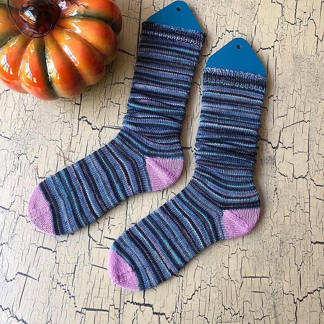 First knitting machine-made socks!