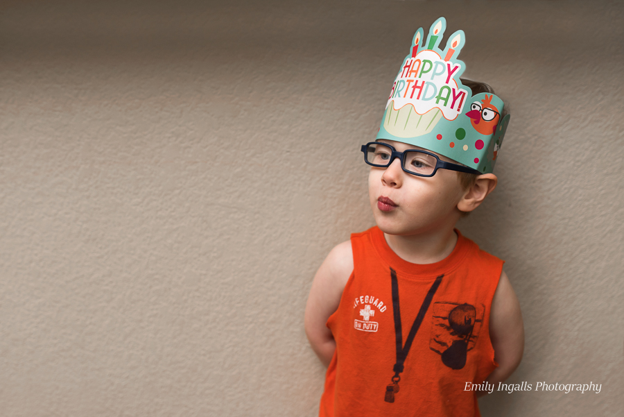 The Birthday Boy! Thanks to Ms. Cori for the Birthday crown.