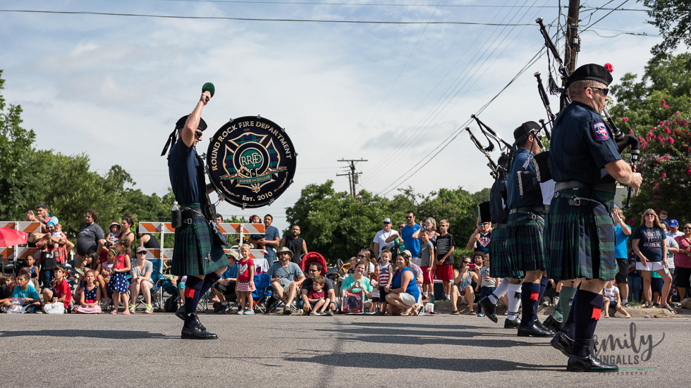Round Rock Fire Department's Pipes and Drums Band