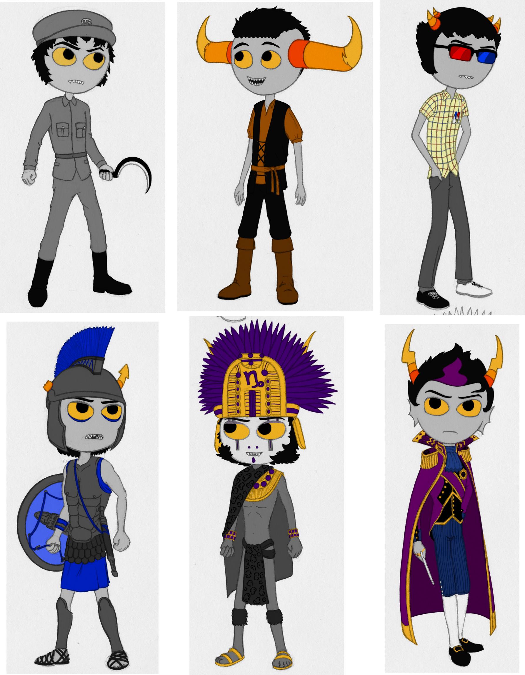Homestuck Trolls Period Costumes Part 1