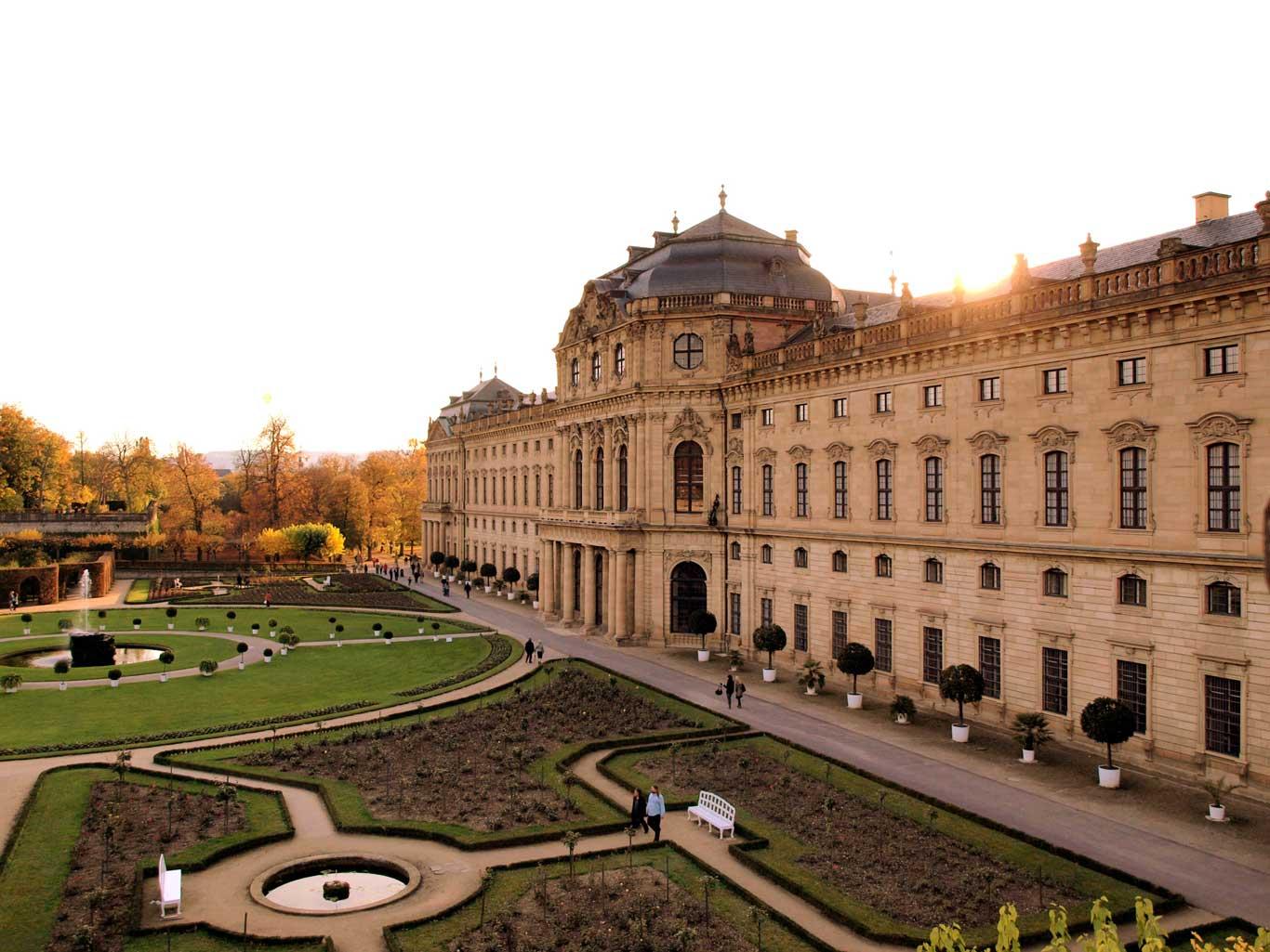 Court Garden  view of the Würzburger Residenz