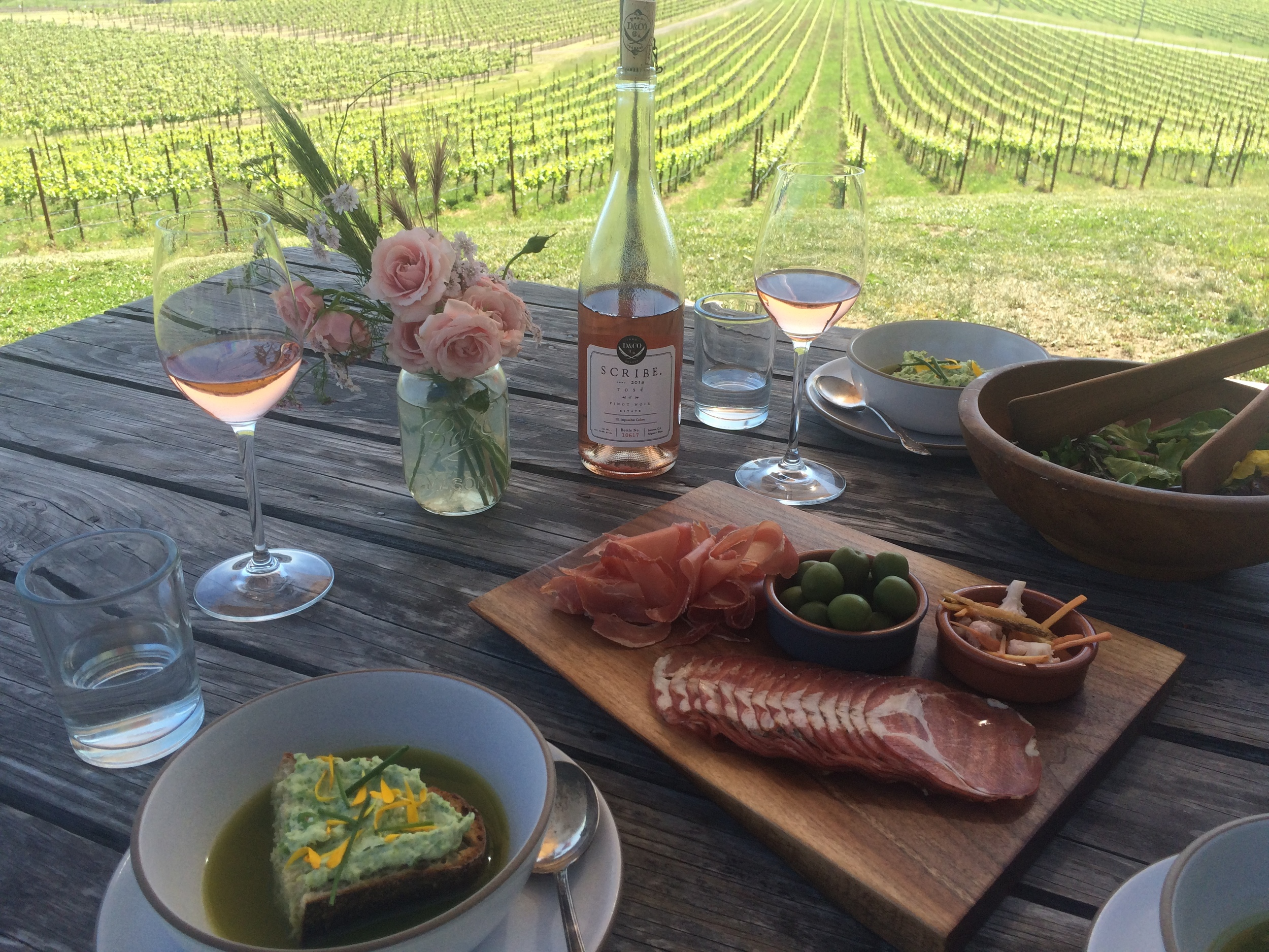 Tasting experience at  Scribe Winery  - Photo credit Leslie Rosa