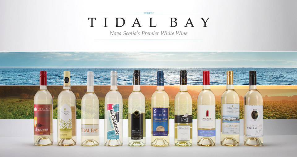 Tidal Bay the NS Appellation wine  Photo supplied by the Winery Association of NS