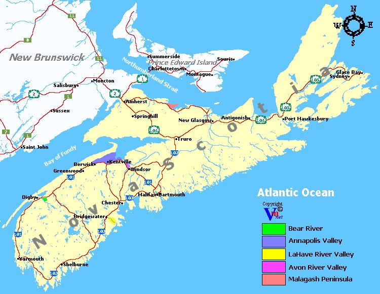 Nova Scotia Wine Regions
