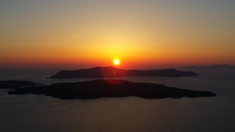 Santorini Sunset from Santo Wine Cooperative