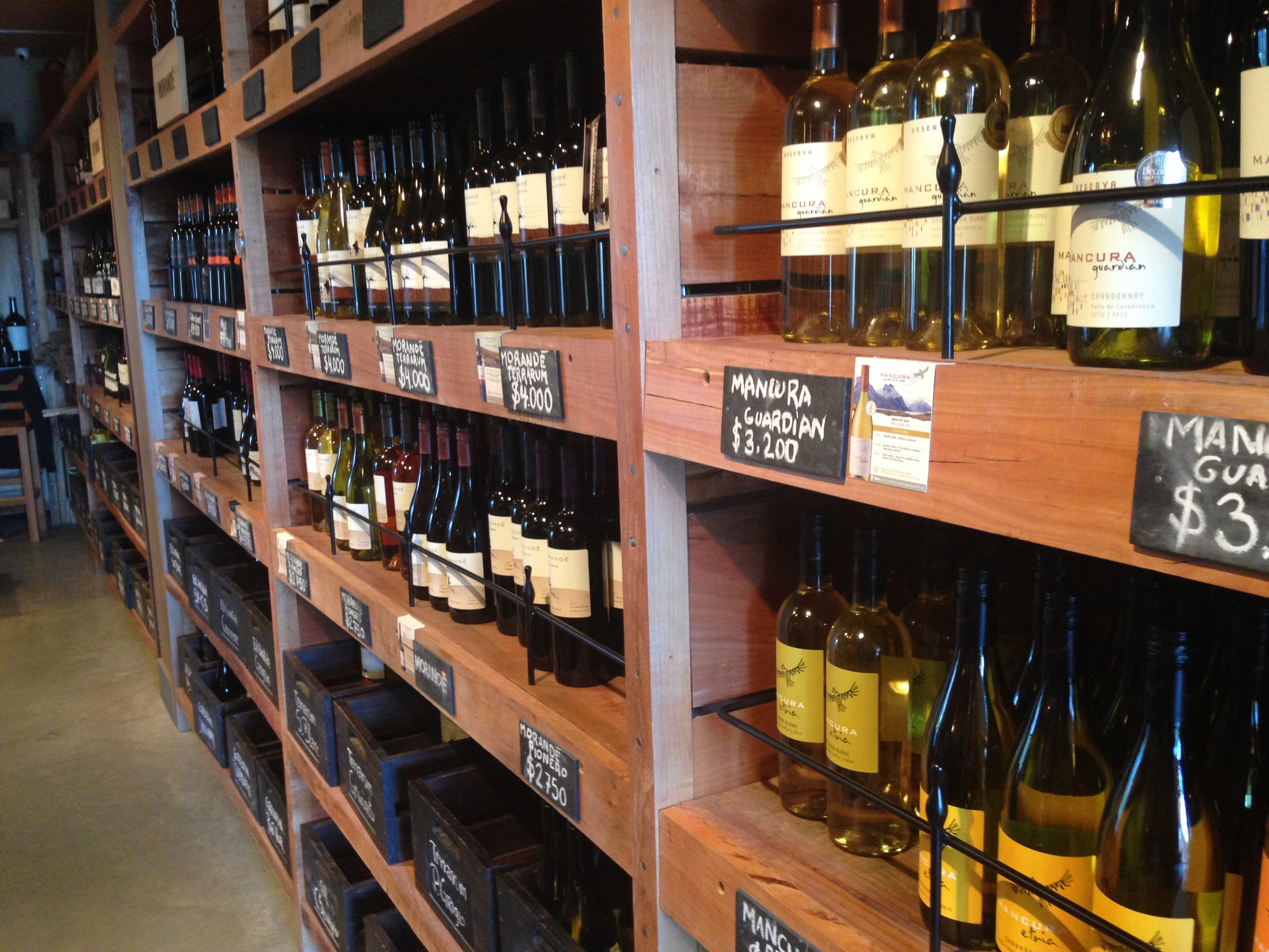 Wine selection at House, Casa Del Vino, prices in the Chilean Peso. Credit   Gabe Manzo