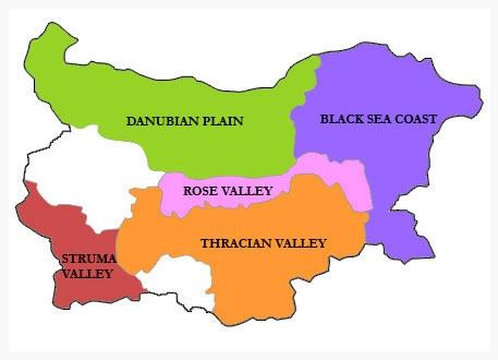 Bulgarian Wine Map