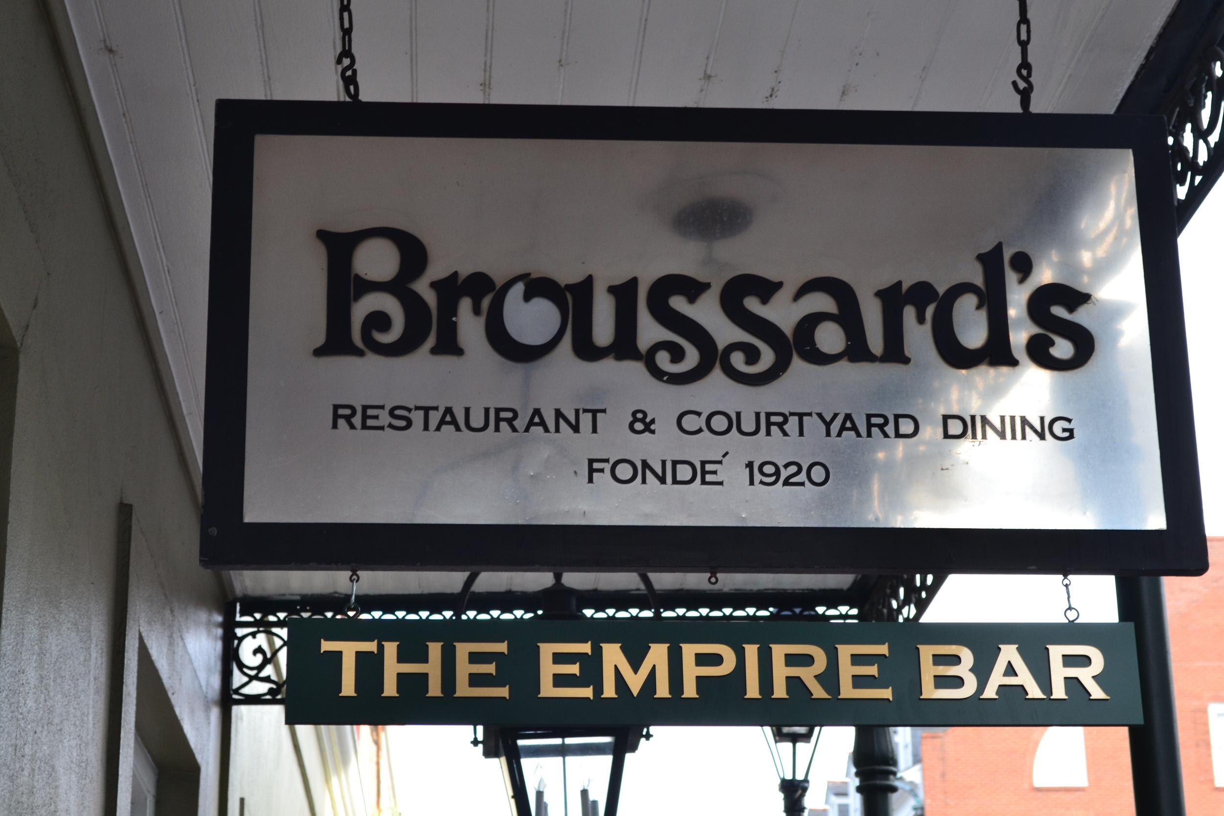 Broussard's Sign